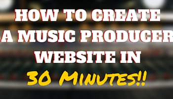 How to create a music producer website