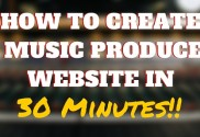 Music producer website