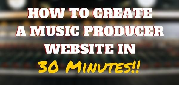 Music producer website